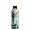 Boca za vodu Puro - 500 ml, Street Art Graffiti, crna